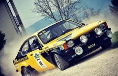 Best Racing Team in gara all'Historic Valli Vesimesi con Cani-Fontanesi (Kadett GT)