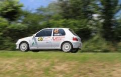 Bierremotorsport-SportAuto Manicardi al via della gara di casa con Grani-Bertagna (Peugeot 106)