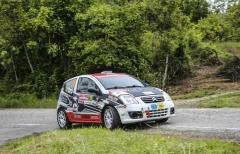 Massimo Minardi e Francesca Ferretti l'equipaggio di Collecchio Corse nella Michelin Zone Rally Cup