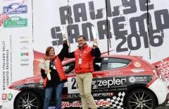 Liverani ai piedi del podio dell'Eco Rally Vasco Navarro, ouverture del Mondiale Energie Alternative